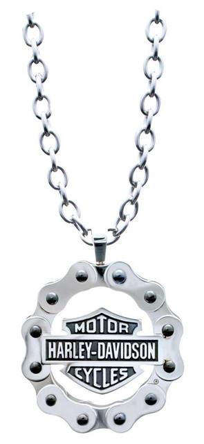 Harley-Davidson Men's B&S Bike Chain Necklace, Stainless Steel HSN0028-22 - Wisconsin Harley-Davidson