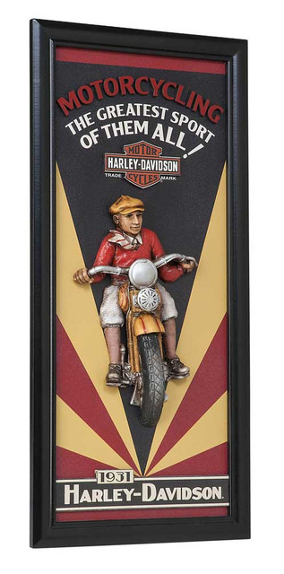 Harley-Davidson Motorcycling Sculpted 3D Accent Pub Sign, 10 x 22 inch HDL-15314 - Wisconsin Harley-Davidson