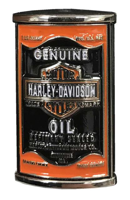 Harley-Davidson 3D Genuine Oil Can Pin, Silver Finish, 1.5 x 0.75 inch 257677 - Wisconsin Harley-Davidson