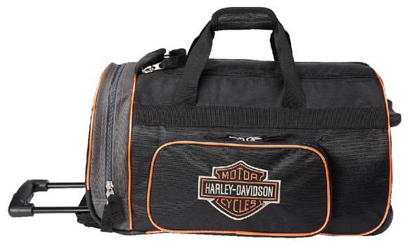 "Harley-Davidson Bar & Shield Logo 20"" Wheeling Duffel Carry-On Bag 99416-BLACK - Wisconsin Harley-Davidson"