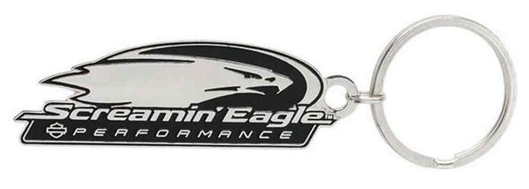 Harley-Davidson Screamin' Eagle Logo Die-Cut Metal Key Chain, Silver HARLNV0098 - Wisconsin Harley-Davidson