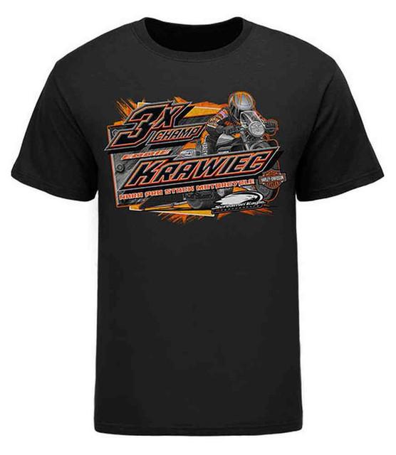 Harley-Davidson Men's Screamin' Eagle Krawiec 3X Champ T-Shirt, Black KRAWMT0010 - Wisconsin Harley-Davidson