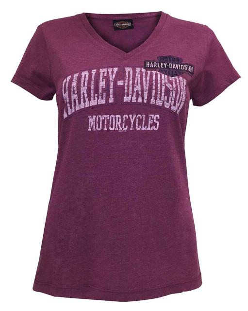 Harley-Davidson Women's Lush Fire Throttle Short Sleeve Tee, Pink 5U26-HC3U - Wisconsin Harley-Davidson