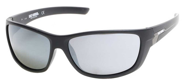 Harley-Davidson Men's HD Block Sunglasses, Matte Metallic Black Frame/Smoke Lens - Wisconsin Harley-Davidson