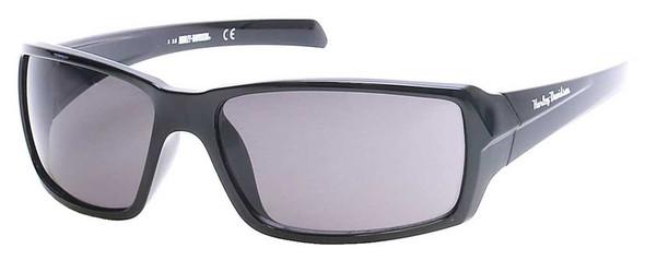 Harley-Davidson Men's H-D Script Sunglasses, Black Frame & Smoke Gray Lenses - Wisconsin Harley-Davidson