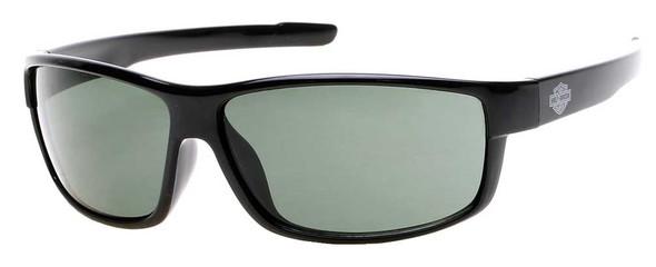 Harley-Davidson Men's Bar & Shield Sunglasses, Black Frame & Green Lenses - Wisconsin Harley-Davidson