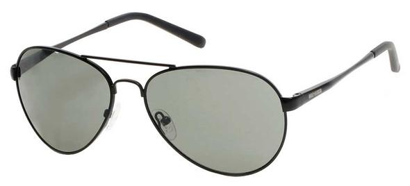 Harley-Davidson Men's Metal Aviator Sunglasses, Satin Black Frame & Smoke Lens - Wisconsin Harley-Davidson