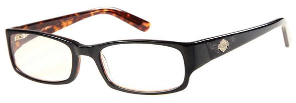 Harley-Davidson Men's Lasered B&S Readers, Lens Power 2.5, Black Tortoise Frames - Wisconsin Harley-Davidson