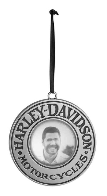 Harley-Davidson 2016 Magnifying ORB Picture Ornament, Chrome Plated 96845-17V - Wisconsin Harley-Davidson