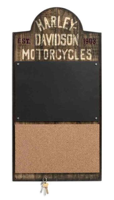 Harley-Davidson Wooden Chalkboard / Corkboard Sign, 15 x 29.25 inches 96820-17V - Wisconsin Harley-Davidson