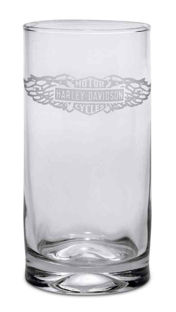 Harley-Davidson Winged Bar & Shield Logo Cooler Drink Glass, 16.75 oz. 96802-17V - Wisconsin Harley-Davidson