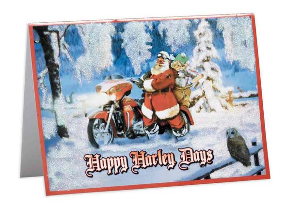 Harley-Davidson Biker Santa Boxed Holiday Cards, Set of 12, 5 x 7 in 96860-17V - Wisconsin Harley-Davidson