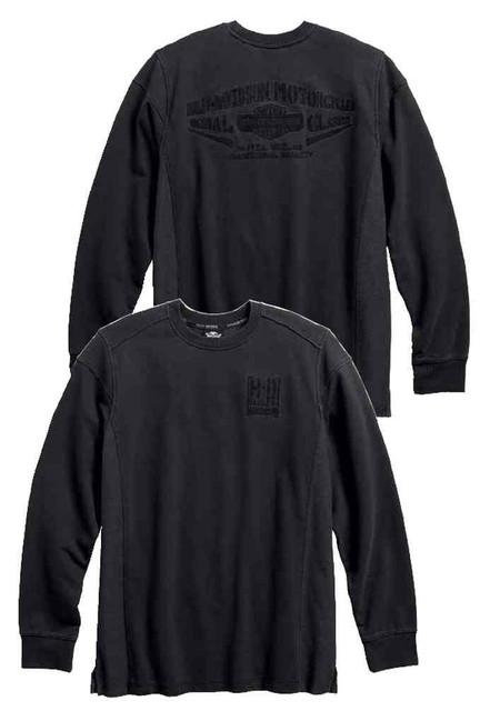 Harley-Davidson Men's Classic Embroidered Pullover Long Sleeve Shirt 96429-17VM - Wisconsin Harley-Davidson