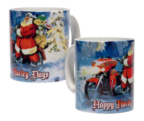 Harley-Davidson 2016 Biker Santa Graphic Ceramic Coffee Mug, 10 oz. 96807-17V - Wisconsin Harley-Davidson