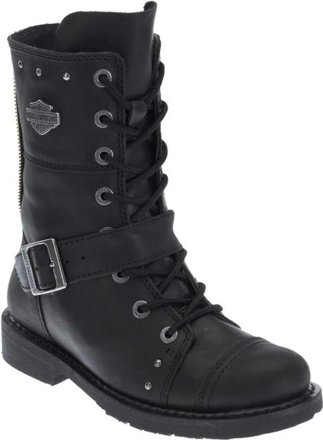 "Harley-Davidson Women's Monetta 7.75"" Black Motorcycle Boots D83859 - Wisconsin Harley-Davidson"