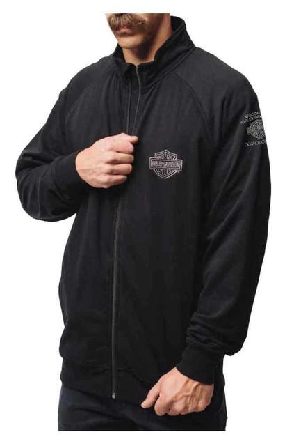 Harley-Davidson Premium Men's Bar & Shield Full Zip Sweatshirt, Black HU30-HA73 - Wisconsin Harley-Davidson