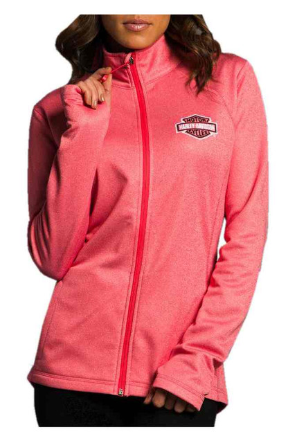 Harley-Davidson Women's Performance Full-Zip Premium Sweatshirt, Pink HU11-HC4Z - Wisconsin Harley-Davidson