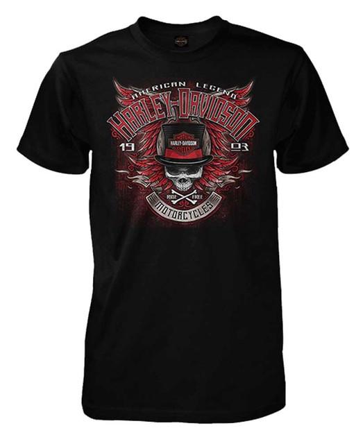 Harley-Davidson Men's Street Legend Winged Skull Short Sleeve T-Shirt, Black - Wisconsin Harley-Davidson