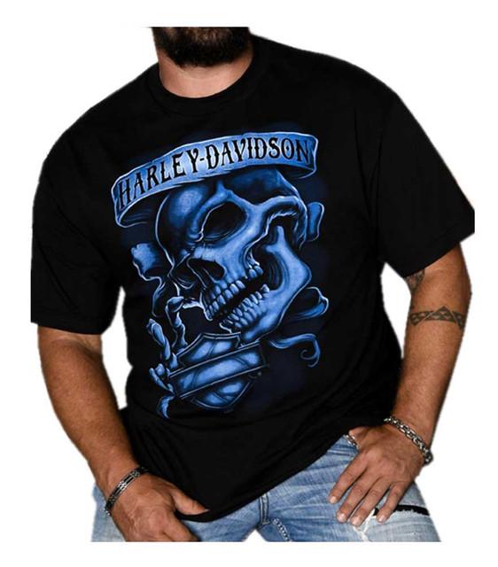 Harley-Davidson Men's Out of the Shadows Skull Short Sleeve T-Shirt, Black - Wisconsin Harley-Davidson