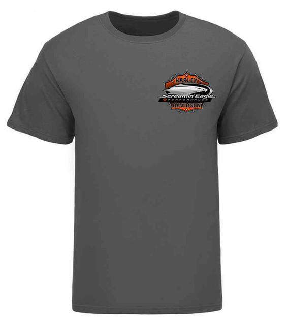 Harley-Davidson Men's Screamin' Eagle Bike Crown T-Shirt, Gray HARLMT0242 - Wisconsin Harley-Davidson