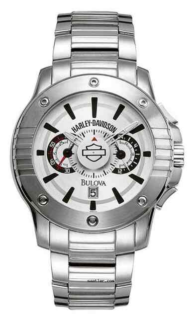 Harley-Davidson Men's Chronograph Bar & Shield Stainless Steel Watch 76B147 - Wisconsin Harley-Davidson