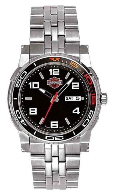 Harley-Davidson Men's B&S Racing Stainless Steel Watch, Silver Finish 78C01 - Wisconsin Harley-Davidson