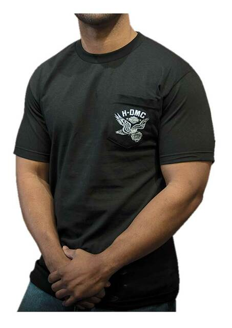 Harley-Davidson Men's Punk H-DMC Chest Pocket Short Sleeve T-Shirt, Black - Wisconsin Harley-Davidson