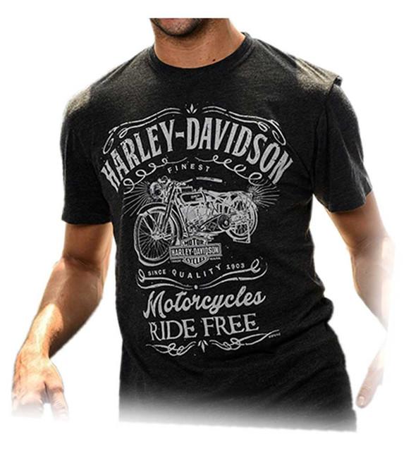 Harley-Davidson Men's Timepiece Motorcycle Short Sleeve T-Shirt, Vintage Black - Wisconsin Harley-Davidson