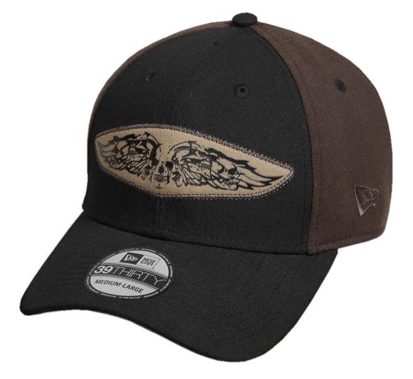 Harley-Davidson Men's 39Thirty Eagle Patch Baseball Cap, Black 97619-17VM - Wisconsin Harley-Davidson