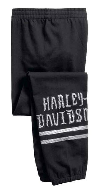 Harley-Davidson Women's Striped Metallic Graphic Sleep Pants, Black 97800-17VW - Wisconsin Harley-Davidson
