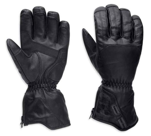 Harley-Davidson Men's Vagrant Waterproof 3-IN-1 Gloves, Black 97382-17VM - Wisconsin Harley-Davidson