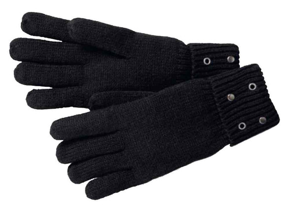 Harley-Davidson Women's Grommet & Rivets Cuffed Knit Gloves, Black 97809-17VW - Wisconsin Harley-Davidson