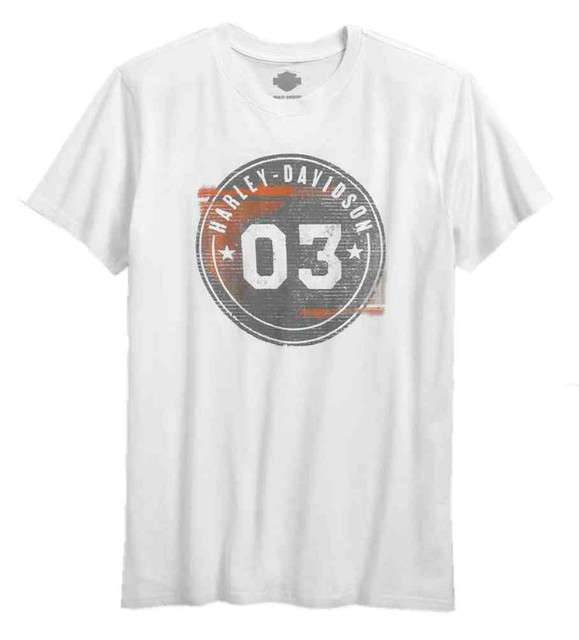Harley-Davidson Men's Distressed Circle 03 Short Sleeve Tee, White 96575-17VM - Wisconsin Harley-Davidson