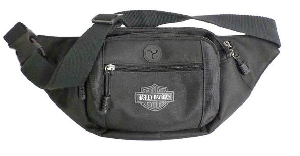 Harley-Davidson Bar & Shield Logo Crossbody / Waistpack Bag, Black BP2200S-BLACK - Wisconsin Harley-Davidson