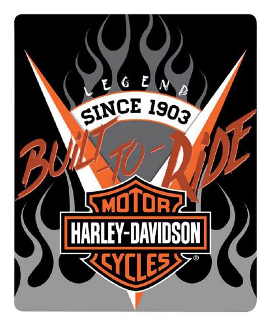 Harley-Davidson Bar & Shield Silk Touch Throw Blanket, 50 x 60 inch NW720046 - Wisconsin Harley-Davidson