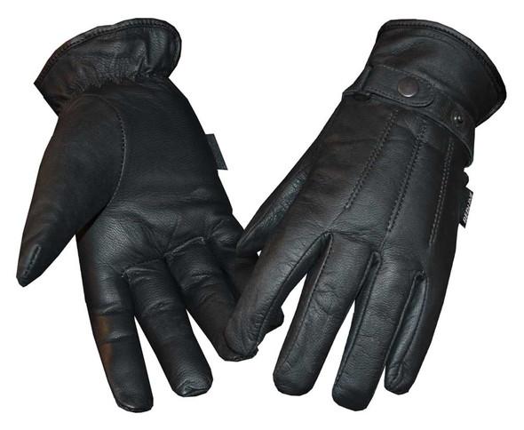 Redline Women's Fleece Gator Lining Full-Finger Leather Gloves, Black GL-25 - Wisconsin Harley-Davidson