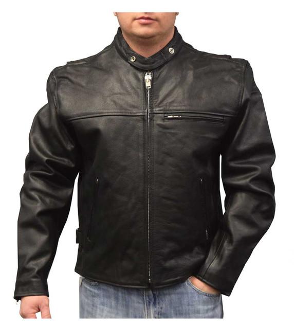 Redline Men's Lightweight Zip Out Liner Cowhide Leather Jacket, Black M-300 - Wisconsin Harley-Davidson