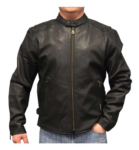 Redline Men's Leather Touring Motorcycle Jacket with Gator Liner, Black M-600GS - Wisconsin Harley-Davidson