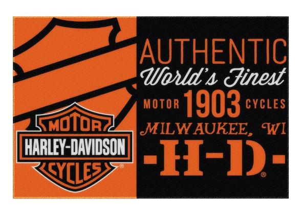 Harley-Davidson Sell Off Bar & Shield Tufted Rug, 39 x 59 Inch, Black NW712164 - Wisconsin Harley-Davidson