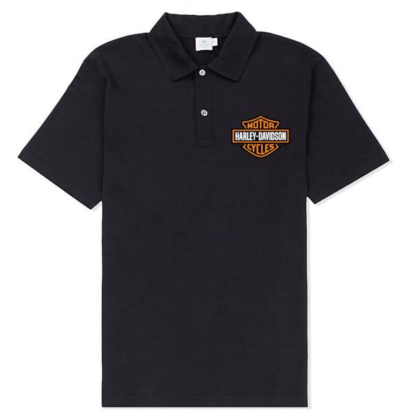 Harley-Davidson Men's Bar & Shield Logo Short Sleeve Polo Shirt, Black - Wisconsin Harley-Davidson