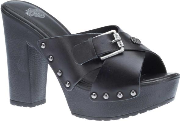 "Harley-Davidson Women's Claremont 4.5"" Black Block Heel Sandals D83907 - Wisconsin Harley-Davidson"