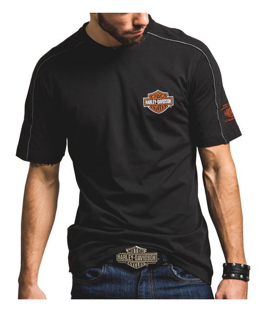 Harley-Davidson Men's Chrome Effect Premium Short Sleeve Shirt H002-HB85 - Wisconsin Harley-Davidson