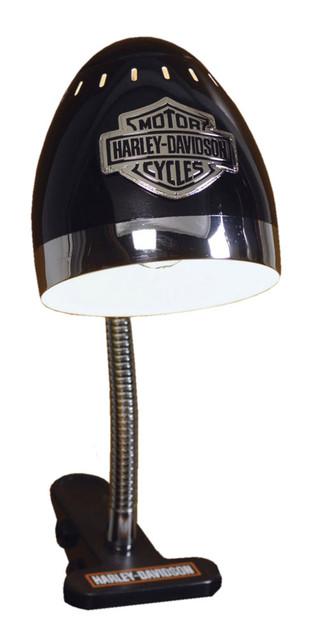 Harley-Davidson Bar & Shield Logo Clip Desk Lamp, Chrome & Black HD-HD-863 - Wisconsin Harley-Davidson