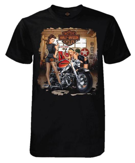 Harley-Davidson Men's Grease Girls Short Sleeve Tall T-Shirt, Solid Black - Wisconsin Harley-Davidson