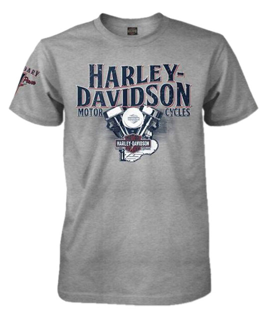 Harley-Davidson Men's H-D Pride Crew Neck Short Sleeve T-Shirt, Heather Gray - Wisconsin Harley-Davidson