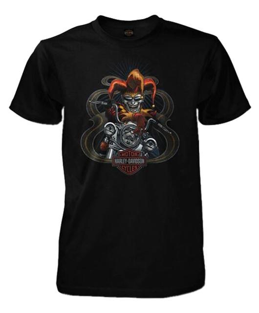 Harley-Davidson Men's Harlequin Rider Short Sleeve Crew Neck T-Shirt, Black - Wisconsin Harley-Davidson