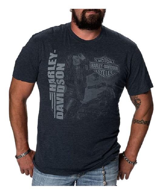 Harley-Davidson Men's Hypnotic Lady Short Sleeve Crew Neck T-Shirt, Navy - Wisconsin Harley-Davidson