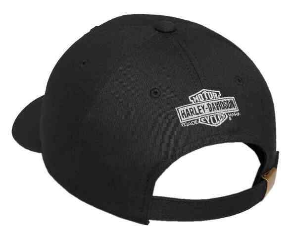 Harley-Davidson Men's Willie G Skull & Shield Patch Baseball Cap 99492-17VM - Wisconsin Harley-Davidson