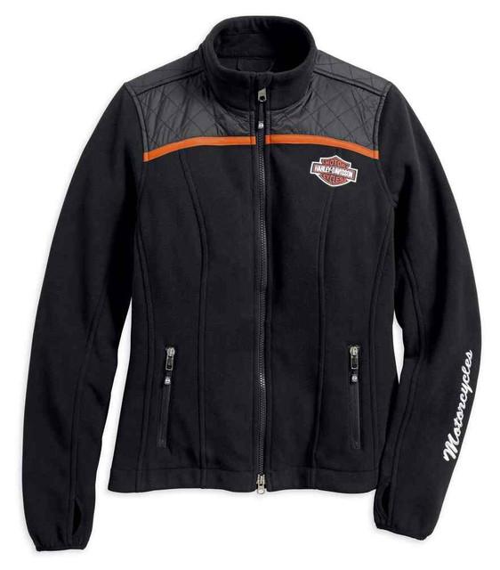 Harley-Davidson Women's Miss Enthusiast Fleece Casual Jacket, Black 98585-17VW - Wisconsin Harley-Davidson