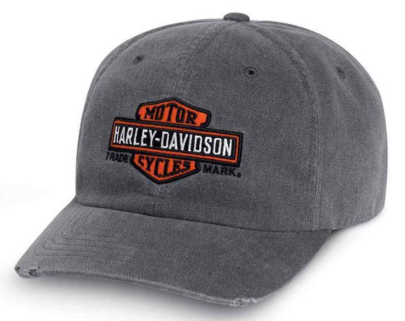 Harley-Davidson Men's Vintage Trademark Logo Baseball Cap, Gray 99416-16VM - Wisconsin Harley-Davidson